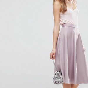 Asos High Waisted Full Circle Scuba Prom Skirt